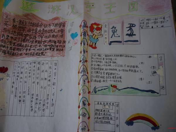 小学生关于汉字的手抄报-遨游汉字王国