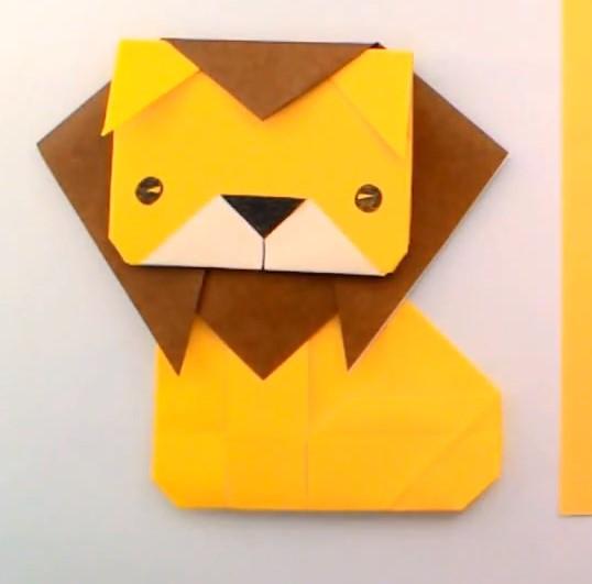 儿童折纸狮子的手工制作教程教会你如何制作折纸狮子